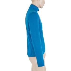 Herren Sweatshirt Sensor Merino Obere Fullzip blue 17200042, Sensor