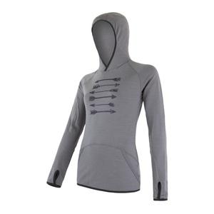 Damen Sweatshirt Sensor MERINO UPPER ARROWS grey 18200043, Sensor