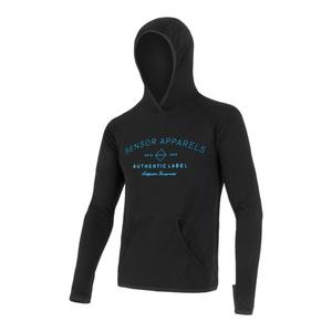 Herren Sweatshirt Sensor MERINO UPPER Berge black 18200037, Sensor