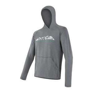 Herren Sweatshirt Sensor MERINO UPPER Berge grey 18200036, Sensor