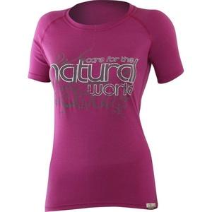 Damen Wolle T-Shirt Lasting NATÜRLICH 4848 pink, Lasting