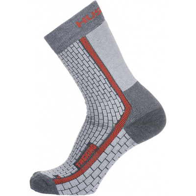Socken Husky Trekking-Neuheiten grau / rot, Husky