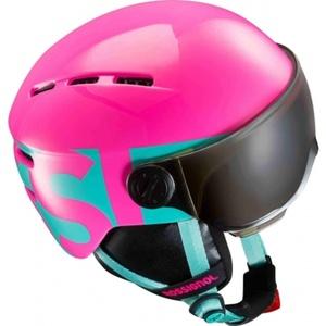 Ski Helm Rossignol Visor Jr. Mädchen-Rosa RKGH501, Rossignol