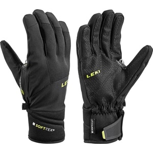 Handschuhe LEKI Progressiv 3 S (643884302) schwarz / lime, Leki