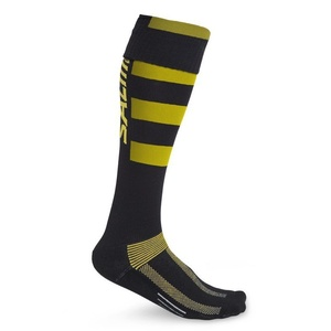 Socken SALMING Coolfeel Teamsock Long Black/Yellow, Salming