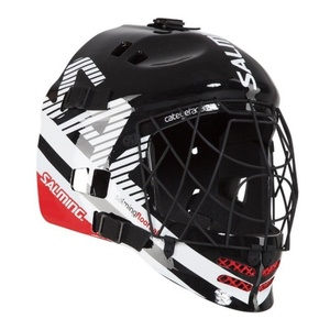 Helm Salming Core Helmet Black/White/Red, Salming