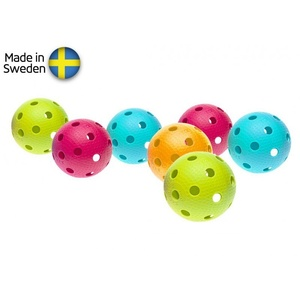 Set Floorball Bälle Salming Aero Ball 10-pack, Colour Mix, Salming