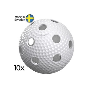 Set Floorball Bälle Salming Aero Ball 10-pack White, Salming