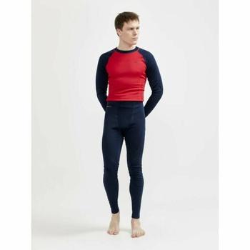 Setzen Sie CRAFT CORE Warm Baselayer 1909709-396404 dunkelblau mit Rot, Craft
