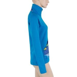 Damen Sweatshirt Sensor Tescnostretch Pattern Fullzip blue 17200077, Sensor