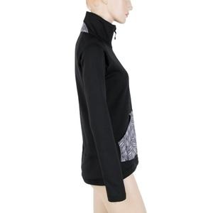 Damen Sweatshirt Sensor MERINO Techno PATTERN LEAVES black 18200060, Sensor