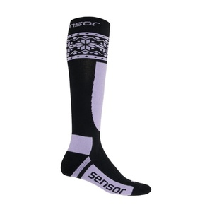Socken Sensor THERMOSNOW NORWEGEN schwarz/lila 17200090, Sensor