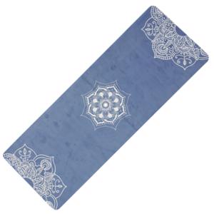 Unterlage  Yoga YATE Yoga Mat natürlich gummi / muster C / blau, Yate