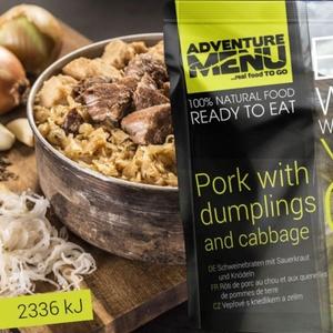 Adventure Menu Schweinefleisch mit knödel a kohl, Adventure Menu