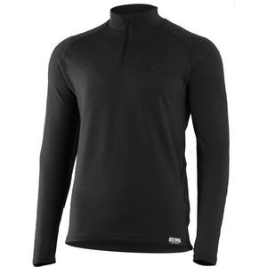 Merino T-Shirt Lasting Vorsichtig 9099 black Wolle, Lasting